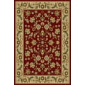 Central Oriental Interlude Cambridge Red Rug; 5' x 7'6''