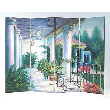 Wayborn 36'' x 48'' Springtime on the Patio 4 Panel Room Divider