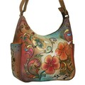 Anuschka Henna Floral Hobo Bag