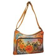Anuschka Twin Top East-West Premium Hobo Bag