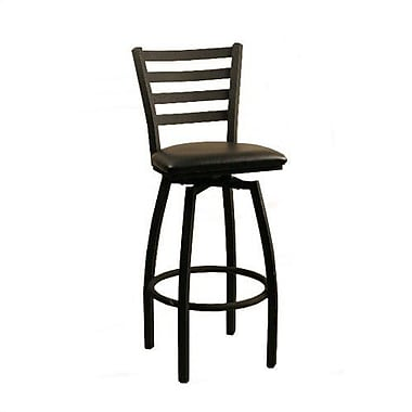 Alston 30'' Swivel Bar Stool with Cushion; New Soho: Silver Grey