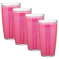 Kraftware Fishnet 24 Oz. Double Wall Insulated Tumbler (Set of 4); Fuchsia