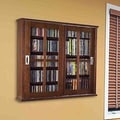 Leslie Dame Glass Door Multimedia Wall Mounted Cabinet; Walnut