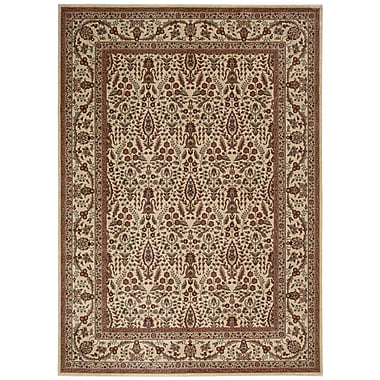 Nourison Cambridge Ivory / Brown Area Rug; 3'6'' x 5'6''