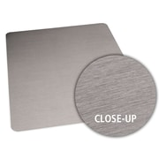ES Robbins Brushed Stainless Design Chair Mat; 36'' x 48'' Rectangular, Straight .110, Hard Floor