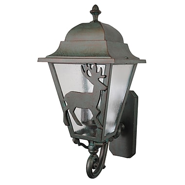 Melissa Americana 3 Light Outdoor Sconce; Old Bronze