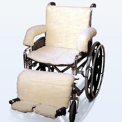 NYOrtho Sheepskin Wheelchair Covers in Cream; Full Set