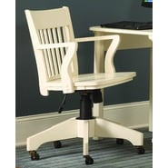Woodbridge Home Designs High-Back Office Chair with Arms; White