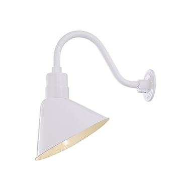 Millennium Lighting 12'' R Series Empire Wall Sconce Shade; White