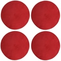 TAG Basic Textiles Woven Placemat (Set of 4); Red