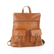 Aston Leather 2 Compartment Backpack; Black