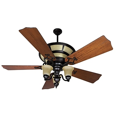 Craftmade Hathaway 5 Blades Fan with DC Remote; Oiled Bronze