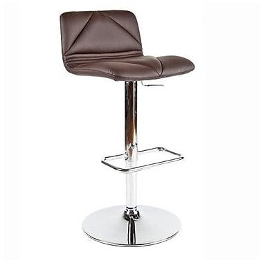 Whiteline Imports Vivo Adjustable Bar Stool with Cushion; Chocolate