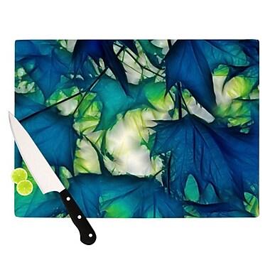 KESS InHouse Leaves Cutting Board; 11.5'' H x 15.75'' W x 0.25'' D