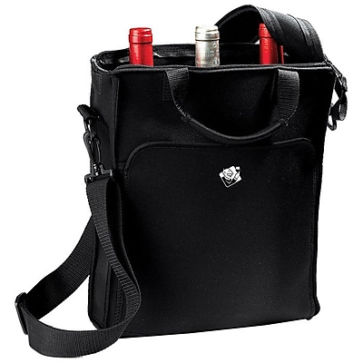 Wine Enthusiast Companies 3 Bottle Neoprene Wine