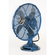 Ecco 13'' Oscillating Table Fan; Blue