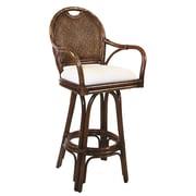Hospitality Rattan Classic 24'' Swivel Bar Stool with Cushion; Saltillo Terrace Mediterranean