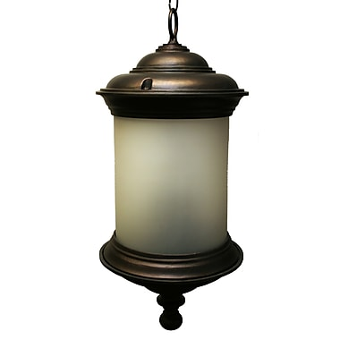 Melissa Tuscany 3 Light Outdoor Hanging Lantern; Architectural Bronze
