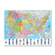 Universal Map Advanced Political Rolled Map - Paper; U.S./World Combo