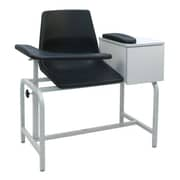 Winco Manufacturing Economical Phlebotomy Chair w/ Storage Drawer; IV Pole Right Rear