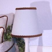 Brandee Danielle 8'' Cotton Empire Lamp Shade; Blue