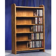 Wood Shed 500 Series 275 CD Multimedia Storage Rack; Unfinished
