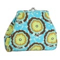 Amy Butler Mallory Coin Purse; Buttercups Turquoise