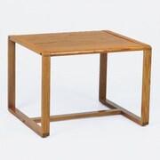 Lesro Contour Series Corner Table; Mahogany