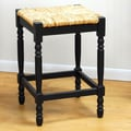 Carolina Cottage Hawthorne 24'' Bar Stool; Antique Black