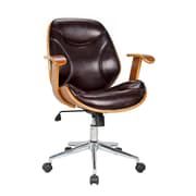 Boraam Rigdom Desk Chair with Arms; Brown