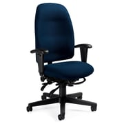 Global Total Office High-Back Pneumatic Multi-Tilter Office Chair with T-Arms; Crescent Raven