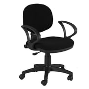 Martin Universal Design Stanford Mid-Back Office Chair with Arms; Black