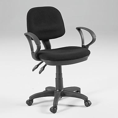Martin Universal Design Vesuvio Mid-Back Office Chair with Arms; Black