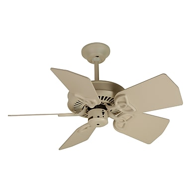 Craftmade Piccolo 5 Blades Fan Motor; Antique White