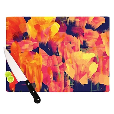 KESS InHouse Geo Flower Cutting Board; 11.5'' H x 8.25'' W x 0.25'' D