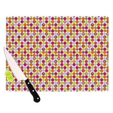 KESS InHouse Happy Circles Cutting Board; 11.5'' H x 15.75'' W x 0.15'' D