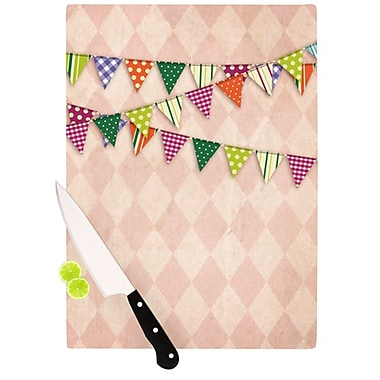 KESS InHouse Flags 2 Cutting Board; 11.5'' H x 15.75'' W x 0.15'' D