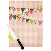KESS InHouse Flags 2 Cutting Board; 11.5'' H x 8.25'' W x 0.25'' D