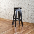 American Heritage 30'' Swivel Bar Stool; Black