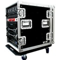 Road Ready Deluxe Amplifier Rack System Case with Caster Board; 16U