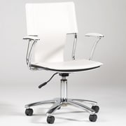 Chintaly Mid-Back Office Chair with Swivel ; White
