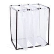 The Bag Stand Co Triple Hamper with Bag; Bronze