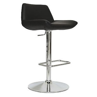 Whiteline Imports Maya Adjustable Bar Stool with Cushion; Black