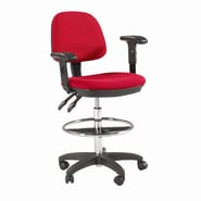 Martin Universal Design Height Adjustable Drafting Seating with Task Arm; Black