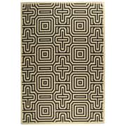 Safavieh Courtyard Sand & Black Outdoor Area Rug; 5'3'' x 7'7''
