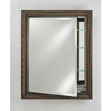 Afina Signature 17'' x 30'' Recessed Medicine Cabinet; Meridian Gold with Silver Caps