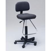 Martin Universal Design Height Adjustable Drafting Seating with Low Back; Black