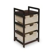 Badger Basket 3 Drawer Hamper/Storage Unit; Espresso