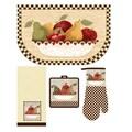 Home Dynamix Antique Fruit Bowl 4 Piece Kitchen Set; Kitchen Medley Set