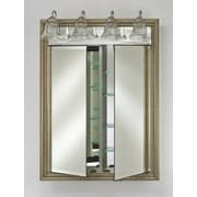 Afina Signature 24'' x 34'' Recessed Beveled Edge Medicine Cabinet; Soho Fluted Chrome